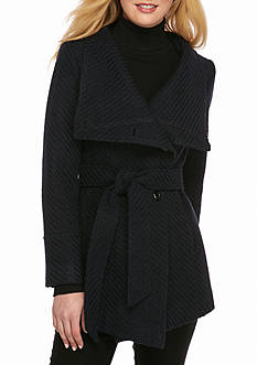Jessica Simpson The Braided Asymmetrical Wool Jacket