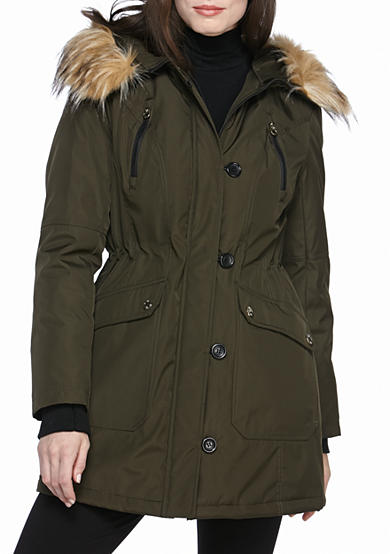 Jessica Simpson Button Front Parka Coat
