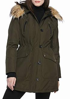 Jessica Simpson Button Front Parka Coat