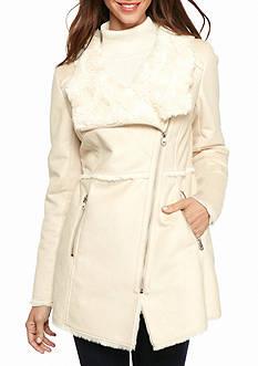 Jessica Simpson Faux Suede Asymmetrical Zip