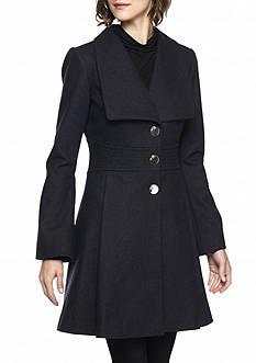 Jessica Simpson Wide Collar Wool Walker Coat