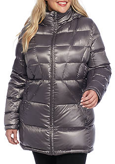 Calvin Klein Women's Zip Up Puffer Jacket with Hood