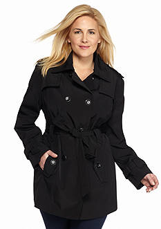 Calvin Klein Plus Size Double Breasted Trench Coat