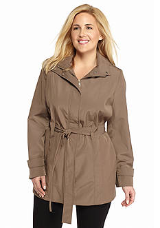 Calvin Klein Plus Size Single Button Trench Coat