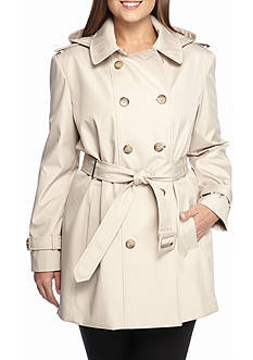 Calvin Klein Plus Size Trench Coat With Hood