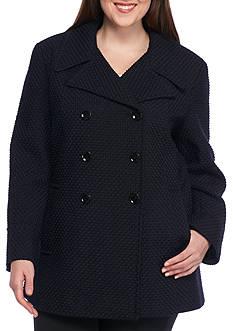 Calvin Klein Women's Notch Collar Wool Peacoat