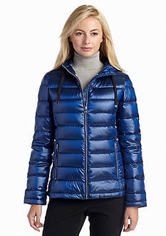 Calvin Klein Premium Down Channel Stitch Coat with Hood