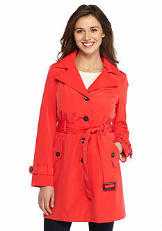 Calvin Klein Short Single Breasted Trench with Belt