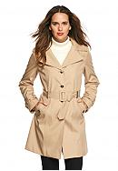 Calvin Klein Button Front Trench Coat with