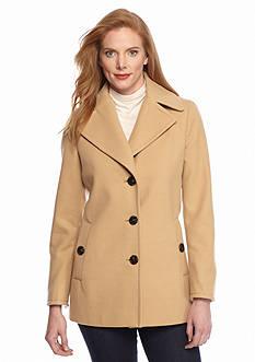 Calvin Klein Button-Front Peacoat