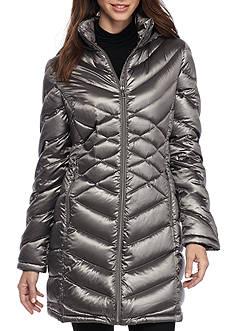 Calvin Klein Women's Cross Pattern Long Sleeved Puffer Jacket