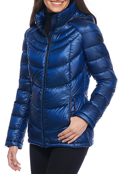 Calvin Klein Down Womens Jacket with Hood (Blue)