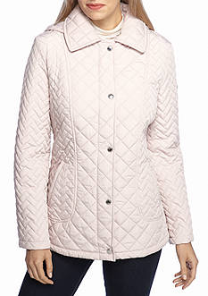 Calvin Klein Quilted Pattern Snap Front Jacket