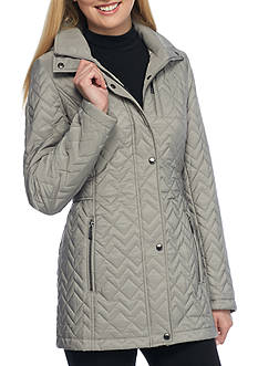 Calvin Klein Chevron Stitch Pattern With Hood