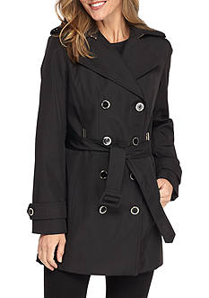 Calvin Klein Double Breasted Trench With Hood