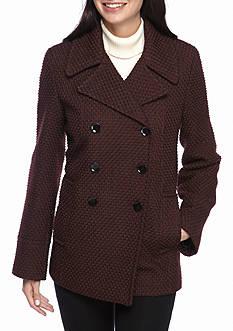 Calvin Klein Basketweave Pea Coat