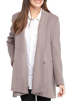Calvin Klein Long Drape Collar Wool