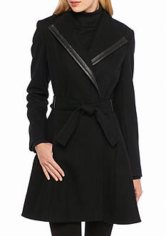 Calvin Klein Women's Off Center Zipper Coat