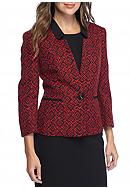 Print Single Button Jacket