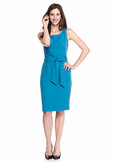Kasper Pacific Belted Dress