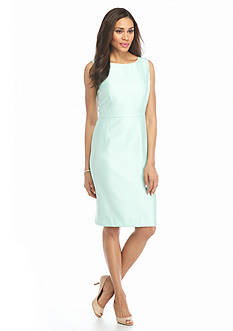 Kasper Shantung Sheath Dress