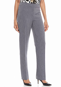 Kasper Heathered Denim Tailored Pants