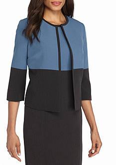Kasper Petite Colorblock Jacket
