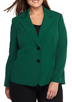 Kasper Plus Size Two Button Jacket