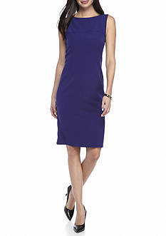 Kasper Petite Solid Sheath Dress