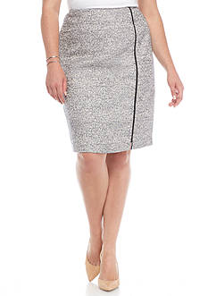 Kasper Plus Size Tweed Skirt