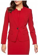 Kasper One Button No Collar Jacket