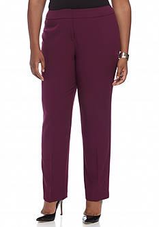 Kasper Plus Size Slim Dress Pants