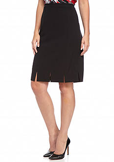 Kasper Stretch Crepe Pleated Skirt