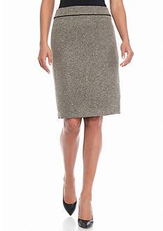 Kasper Tweed Straight Skirt