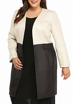 Kasper Plus Size Textured Topper
