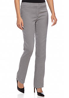 Kasper Houndstooth Slim Pants
