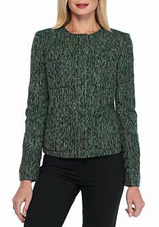 Kasper Tweed No Collar Jacket