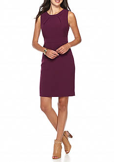 Kasper Petite Solid Crepe Dress