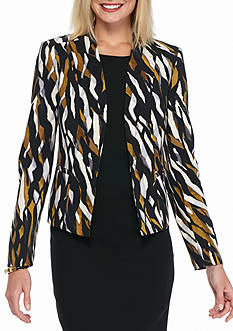 Kasper Print Long Sleeve Jacket