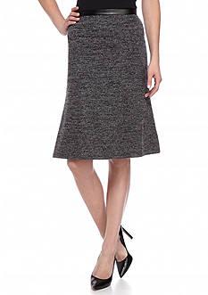 Kasper Tweed Flare Skirt