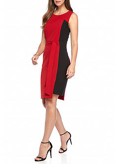 Kasper Side Colorblock Dress