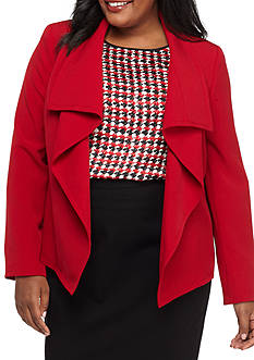 Kasper Plus Size Open Front Jacket