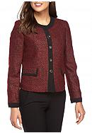 Kasper Tweed Four Button Jacket