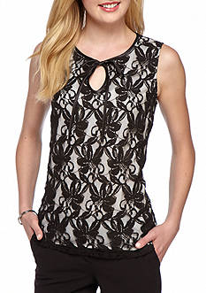 Kasper Floral Lace Overlay Cami
