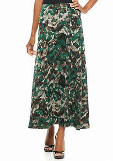 Kasper Print Jersey Knit Skirt