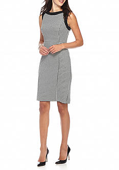 Kasper Houndstooth Dress