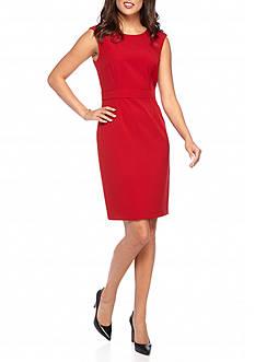 Kasper Red Sheath Dress
