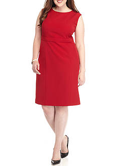 Kasper Plus Size Red Sheath Dress