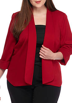 Kasper Plus Size Flyaway Callie Jacket