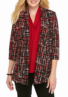 Kasper Long Print Jacket